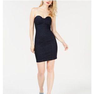 Guess denim mini bodycon dress